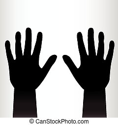 Pair of black hands background. Vector illustration