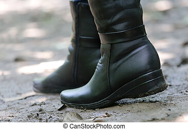 Pair of Black Ladys boots