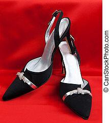Pair of black women's shoes