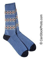 Pair of blue socks
