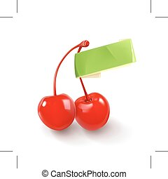 Pair of cherries for cocktails