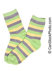 Pair of child's striped socks