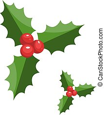Pair of christmas berries vector illustration on a white background