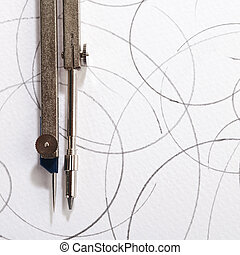 pair of compasses drawing