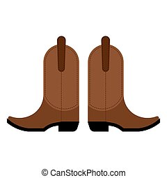 pair of cowboy boots Vector illustration on a white...