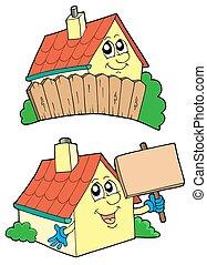 Pair of cute houses