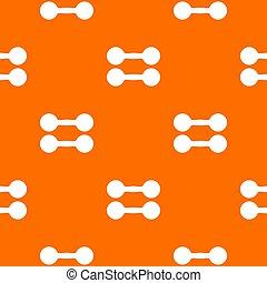 Pair of dumbbells pattern seamless