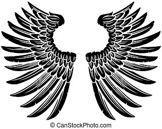 Pair of Eagle Bird or Angel Wings