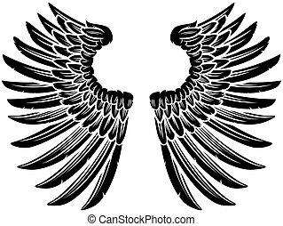 Pair of Eagle Bird or Angel Wings