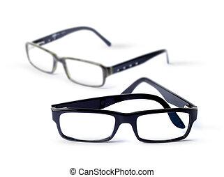 Pair of classic eye glasses, shallow DOF