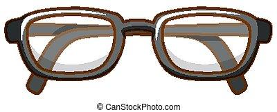 Pair of eyeglasses on white background