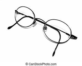Eyeglasses - Pair of Eyeglasses on white
