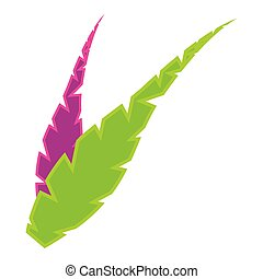 Pair of feathers icon