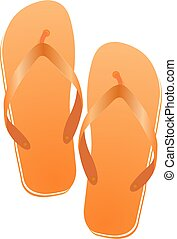 Pair of flip-flops isolated on a white background.