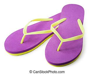 Pair of flip flops. isolated - Pair of flip flops
