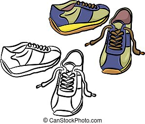 trainers - pair of generic trainers