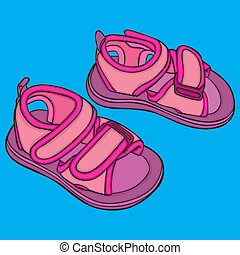 pair of girl shoes