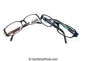 pair of glasses on a white background