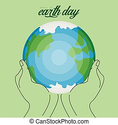 Pair of hands holding our planet
