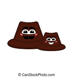 Pair of happy hats with a smile