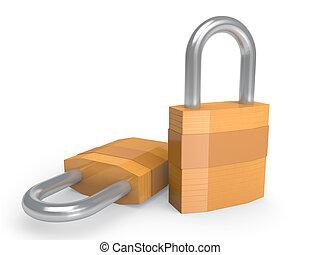 Pair of heavy duty padlocks