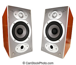 pair of home-speakers, isolated on white