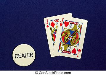 pair of jacks - poker hand pocket pair of jacks on the...