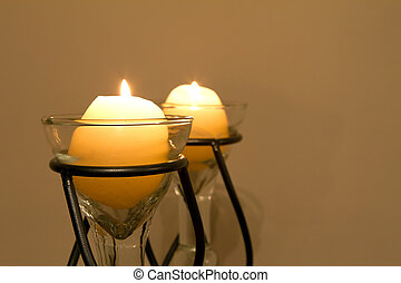Pair of lit candles