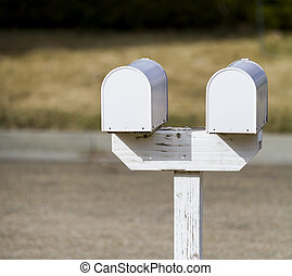 pair of mailboxes