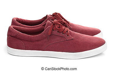 Pair of male suede shoes