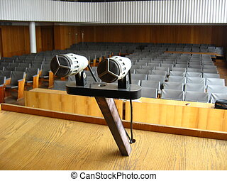 Pair of microphones in the big hall