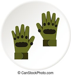 Pair of paintball gloves icon circle
