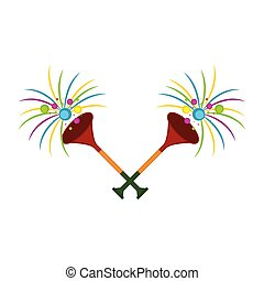 Pair of party trumpets icon