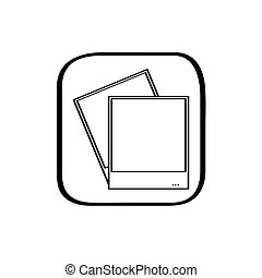 Pair of photos icon on a on a white background