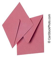 Pair of Pink Invitation Envelopes