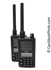 Pair of portable radio transmitters