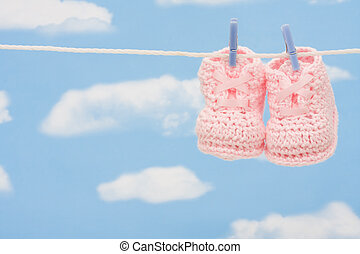 Pair of Retro Baby Booties
