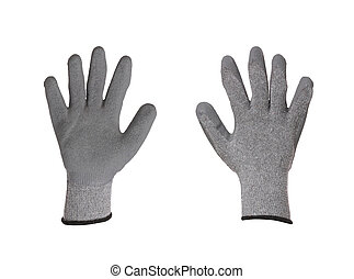 Pair of rubber gloves.