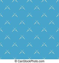 Pair of Sai pattern seamless blue - Pair of Sai pattern...