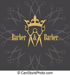 Pair of scissors with Crown