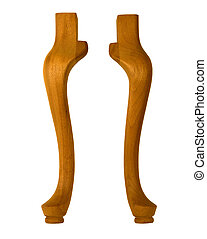 pair of shapely legs - pair of cabriole legs for table or...