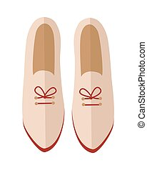 Pair of Shoes Vector Illustration in Flat Design