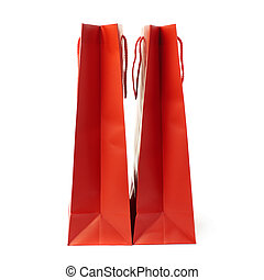 Pair of Shopping bag isolated over the white background