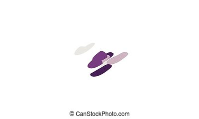 Pair of slippers icon animation isometric best object on white backgound