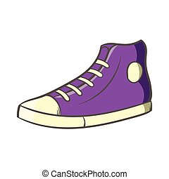 Pair of sneakers icon, cartoon style