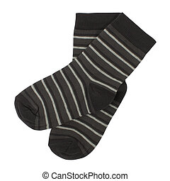 Pair of socks. Isolated on white background