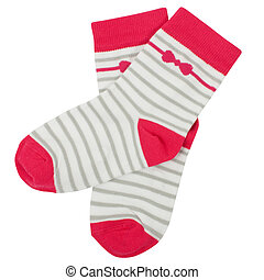 Pair of socks. Isolated on white background.