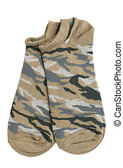 Pair of socks isolated