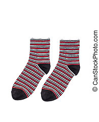 Pair of socks isolated on white background
