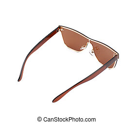 89681826acb Pair of brown shade sunglasses isolated over the white background · Pair of sunglasses  isolated
